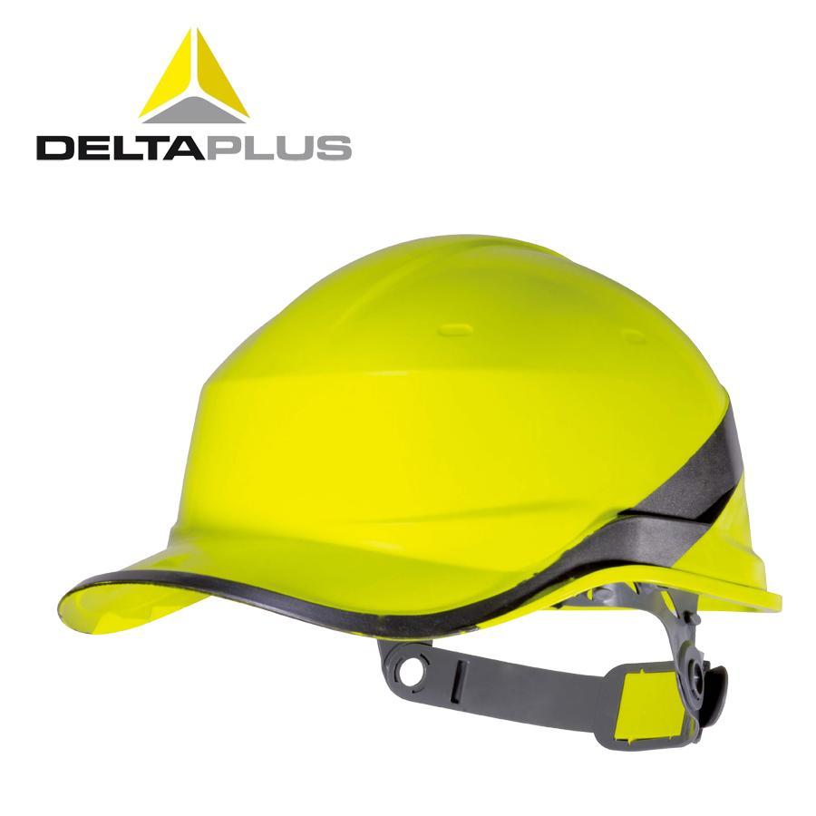 Delta Garis-garis Fosfor Tahan Suhu Tinggi Suhu Rendah Topi Keselamatan ABS Lapangan Proyek