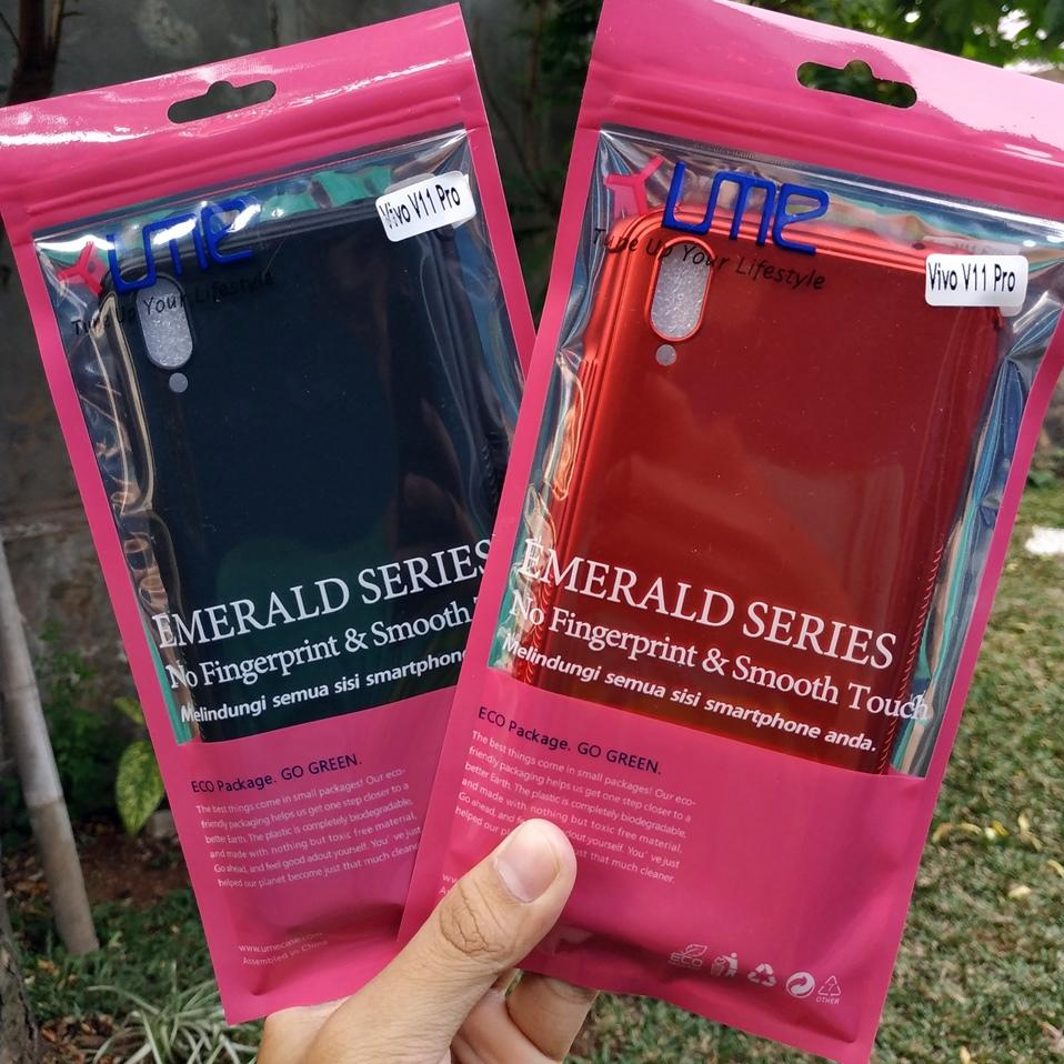 Jelly Case Ume Emerald Softcase Vivo V11 Pro Casing Ultra thin Soft case .