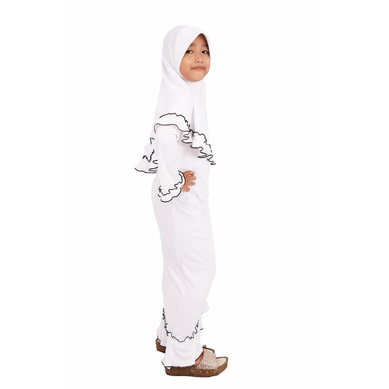 ... Baju Muslim anak/Gamis murah model terbaru kekinian Ori by Jafah Jersey - Putih ...