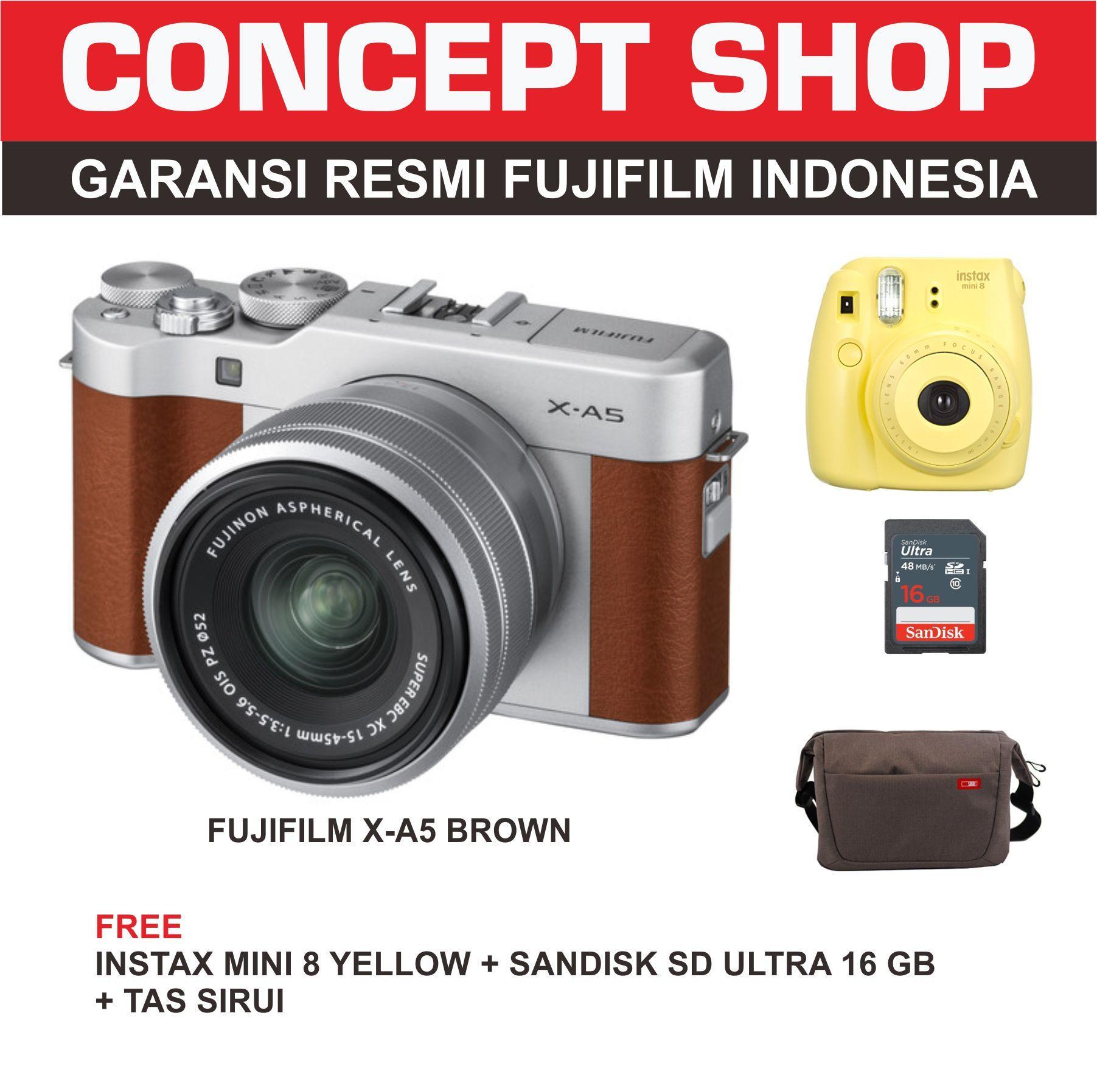 Kelebihan Fujifilm X A5 Kit 15 45mm Brown Xa5 Xa 5 Terkini Daftar Instax Mini 8 Garansi Resmi Indonesia Kuning Detail Gambar Terbaru