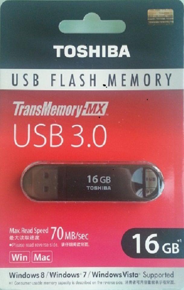 ORIGINAL Toshiba Suzaku 16GB - USB 3.0 Black