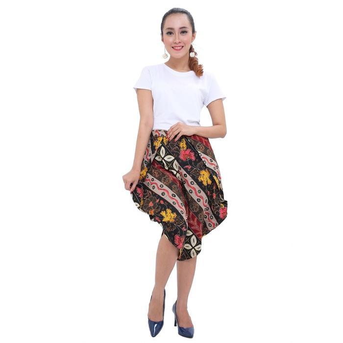 Detail Gambar PROMO SAAT INI LEMONE Cullote Pants/ Celana Kulot Wanita/ Batik - Marun TERLARIS Terkini