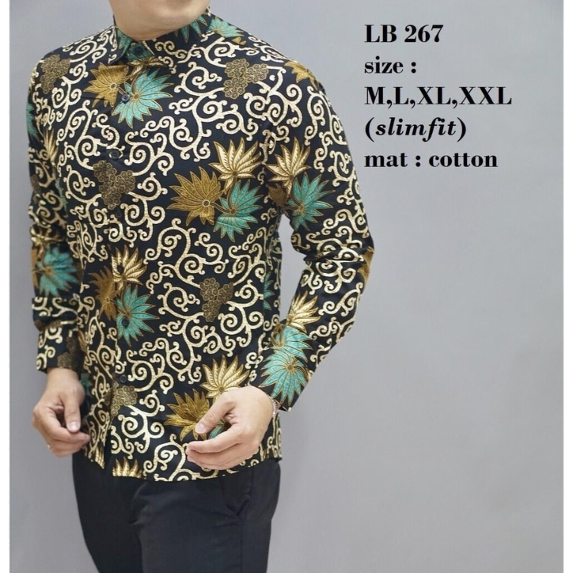 Jual Baju Pria Baju Batik Slimfit Baju Pesta Kemeja Keluarga D486 Bajuku Murah
