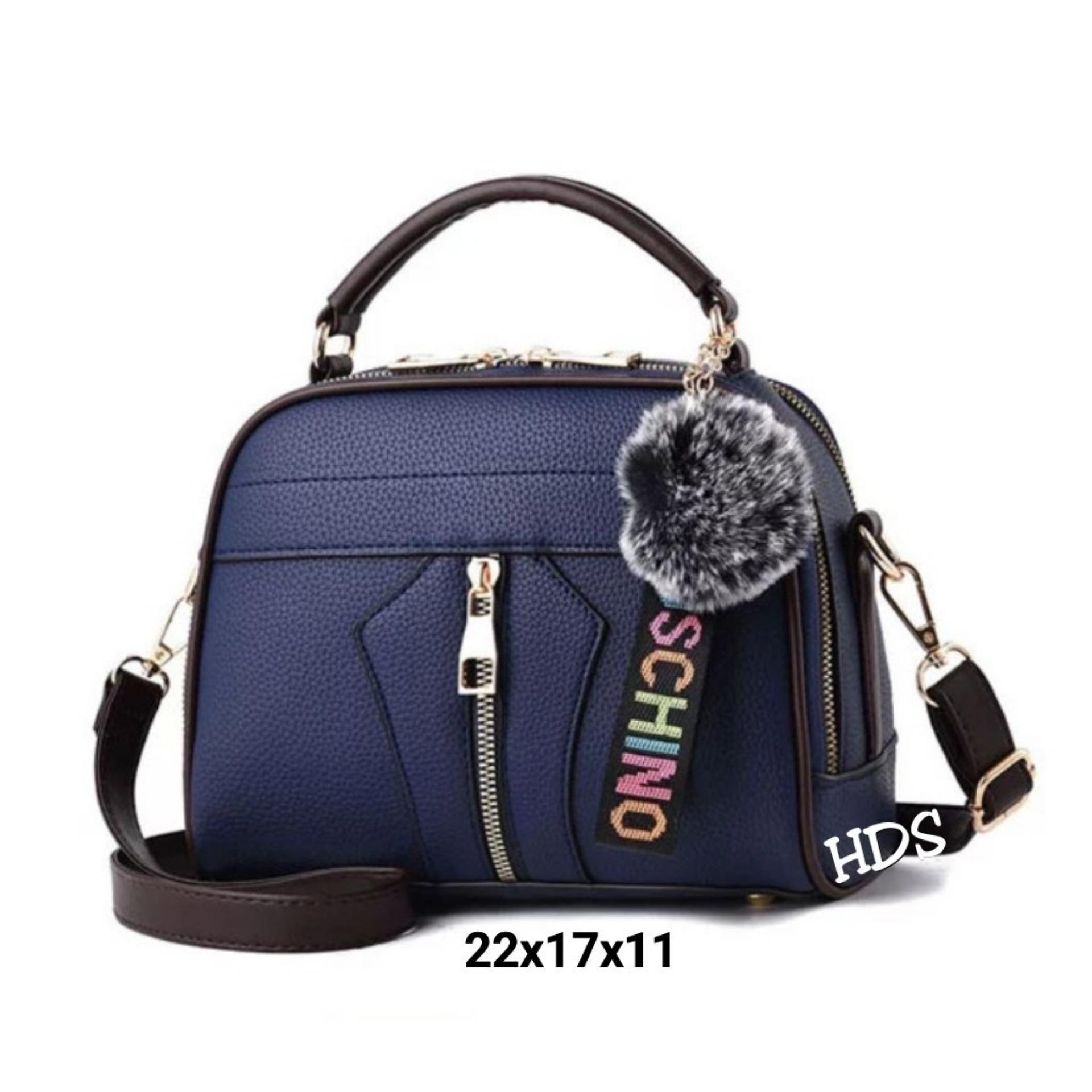 Sling Bag Korean Style MILANO Moschi Center Zip Sewing / Tas Selempang Wanita Korean Style
