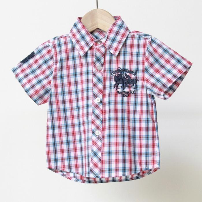 Baju Kemeja Anak Laki Polo Kotak