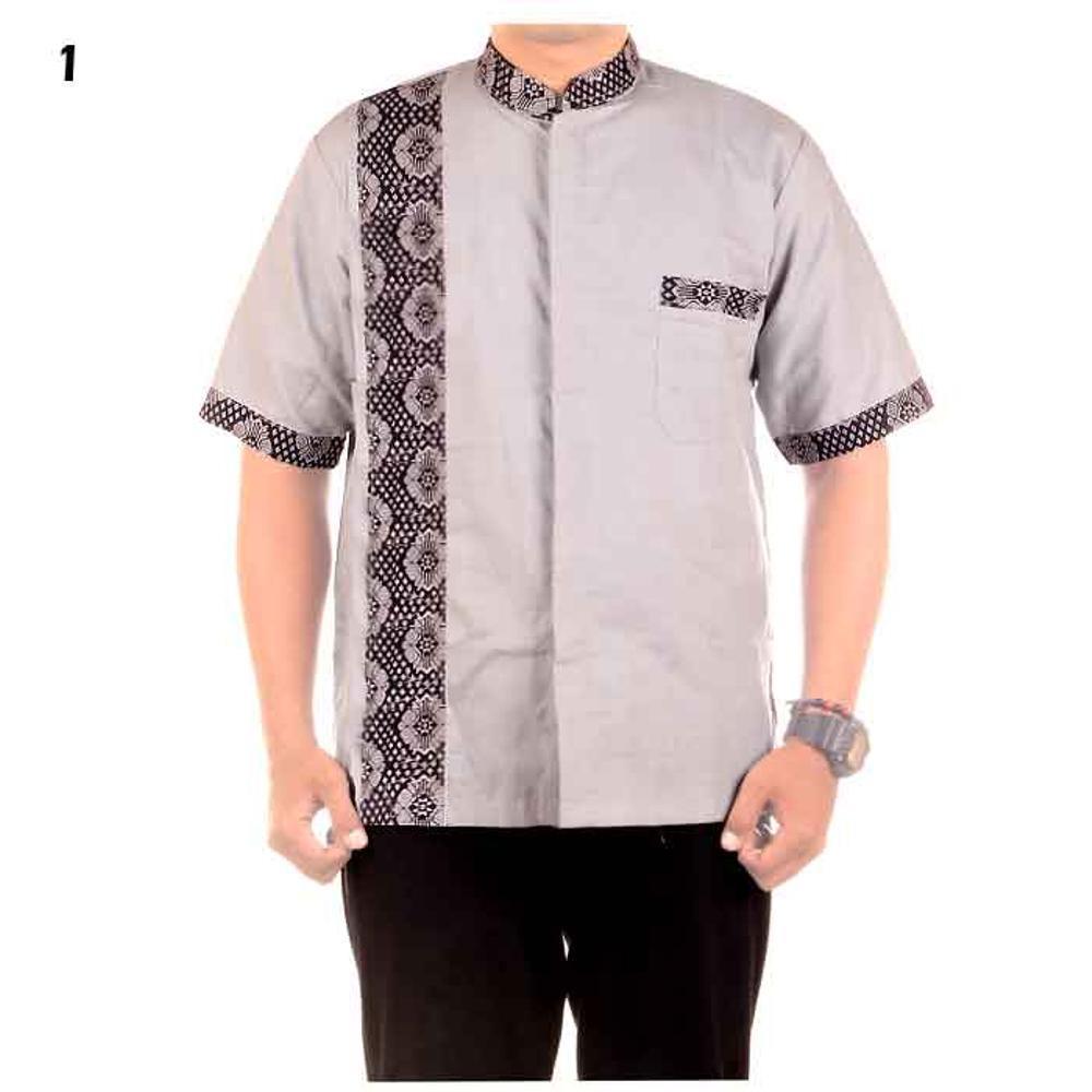 promo baju koko batik bahan katun kombinasi JB Masja 1 murah