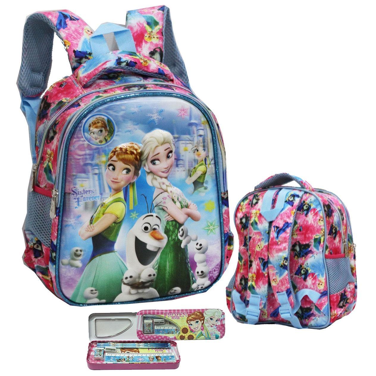 Harga Onlan Disney Frozen 5D Timbul Hologram Unik Tas Ransel Anak Sekolah Tk Dan Kotak Pensil Set Alat Tulis Import Pink Termahal
