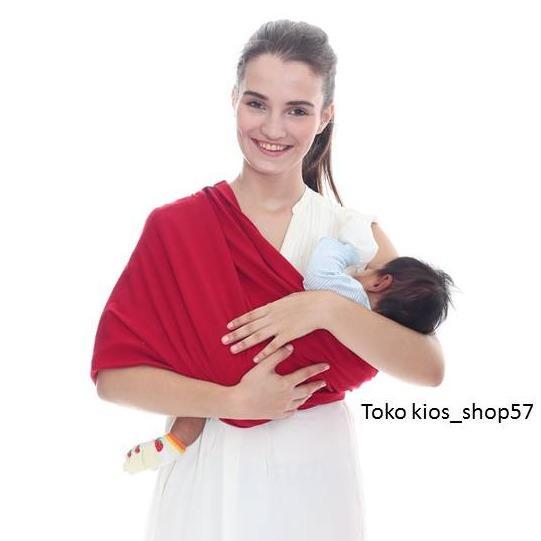 Jual Geos Bians Banyak Posisi Gendongan Kaos Bayi Merah Size M Murah