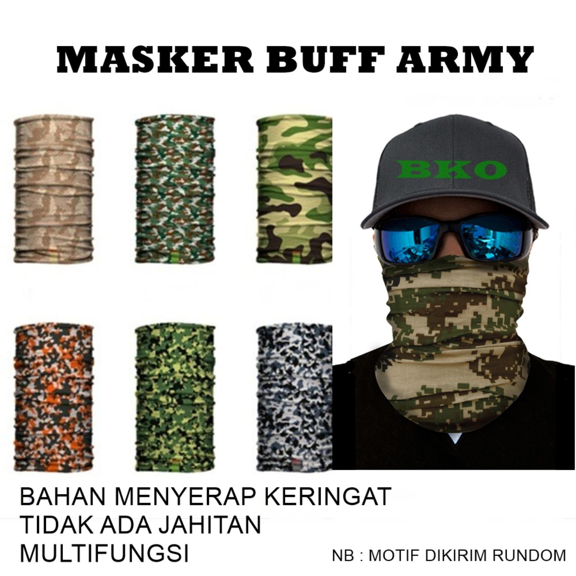 MASKER BUFF ARMY LORENG HARGA GROSIR (MOTIF ACAK)