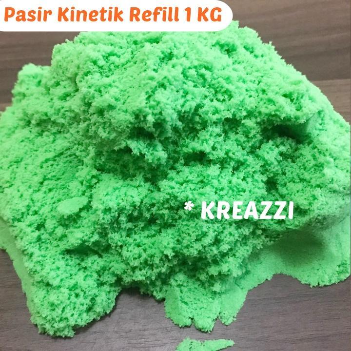 pasir kinetik refill 1 kg – hijau – magic kinetic play s/ pasir ajaib