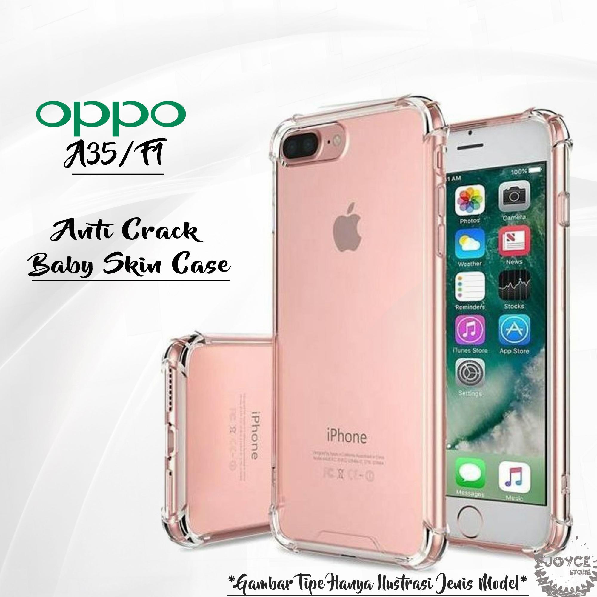 Joyce Soft Silicon for Oppo F1 Slim Matte Black / Anti Crack Case Baby Skin