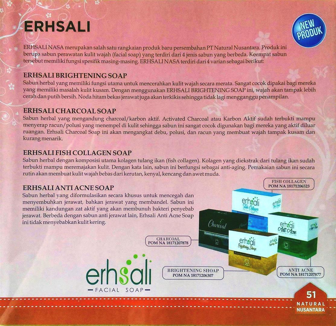 ... Erhsali Fish Collagen Soap Nasa Sabun Collagen Pengencang Wajah - 4 ...