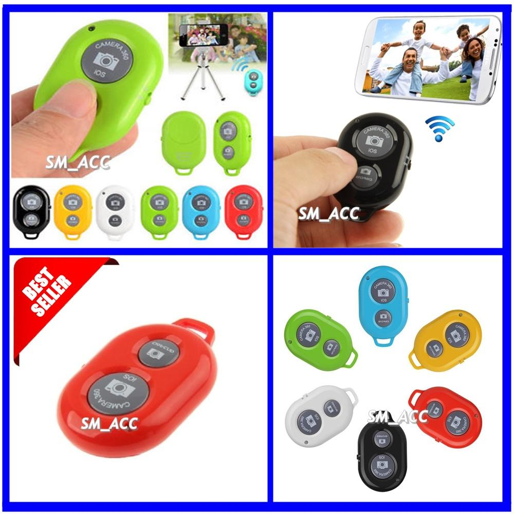Universal Bluetooth Shutter Remote Camera / Remote Shutter / Tomsis Warna Acak [ SM_ACC ]