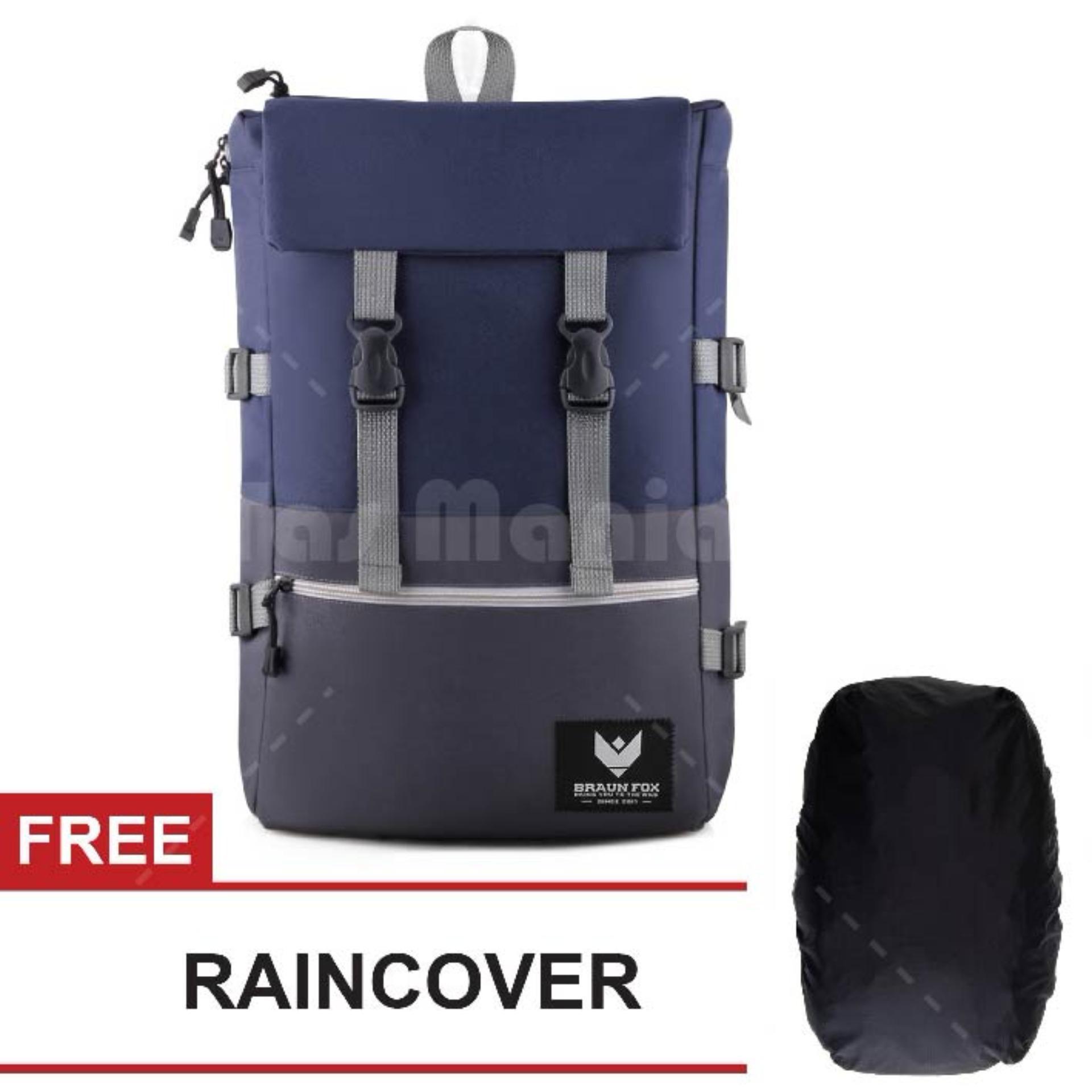 Beli Tas Ransel Braun Fox Ace 01 Dailypack Outdoor Tas Laptop Backpack Blue Free Raincover Tas Pria Tas Kerja Tas Fashion Pria Lengkap