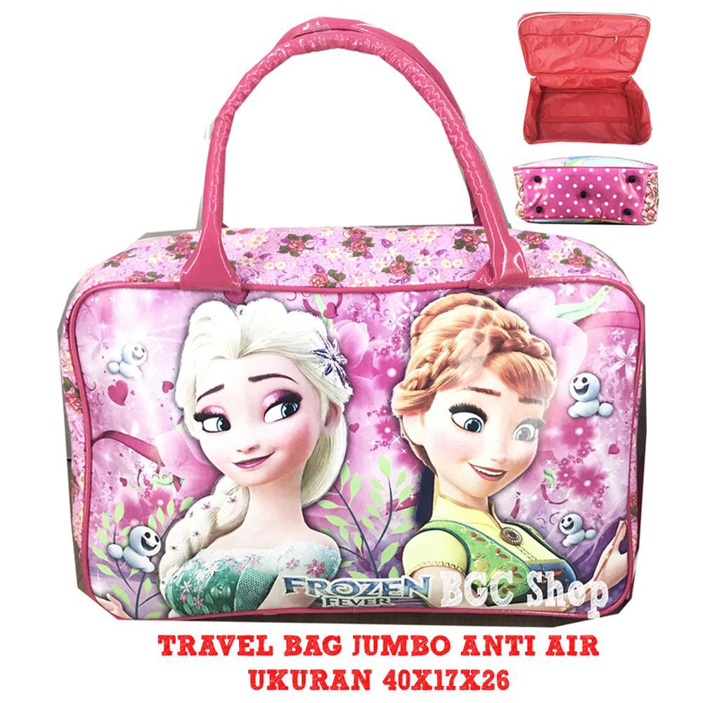 BGC Tas Travel Bag Anti Air Bahan Tebal Frozen JUMBO - Full Motif Flower eaac4fbd17