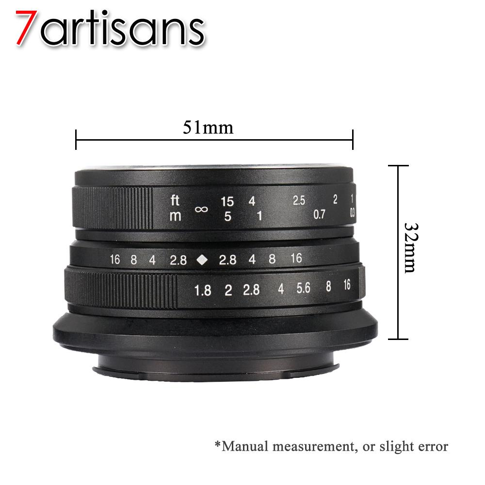 Fitur 7artisans Sony 25mm F1 8 Aps C Frame Manual Focus Prime Fixed Lensa Meike 35mm F17 For A5000 A5100 A6000 A6300 A6500 F18 Lens