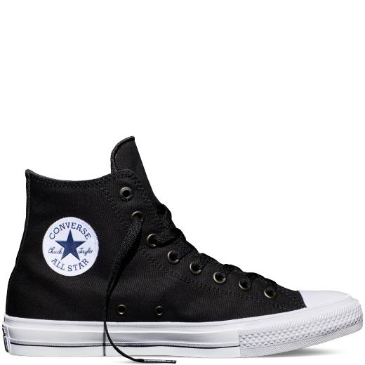 sepatu sneakers converse all star unisex CT HI LOW CUT - HITAM