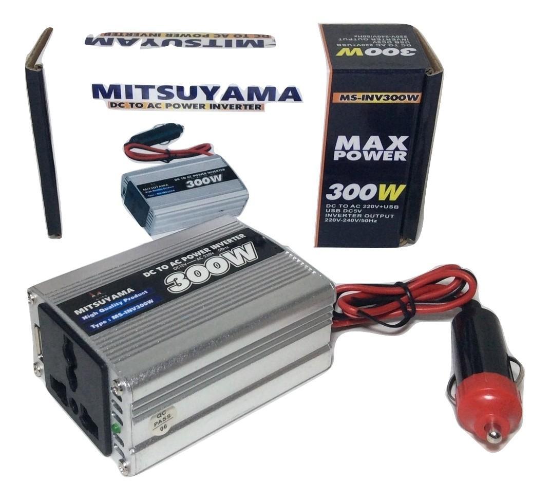 Fitur Inverter 300 Watts Dc 12 Volt To Ac 220 Mitsuyama Dan Power Detail Gambar Terbaru