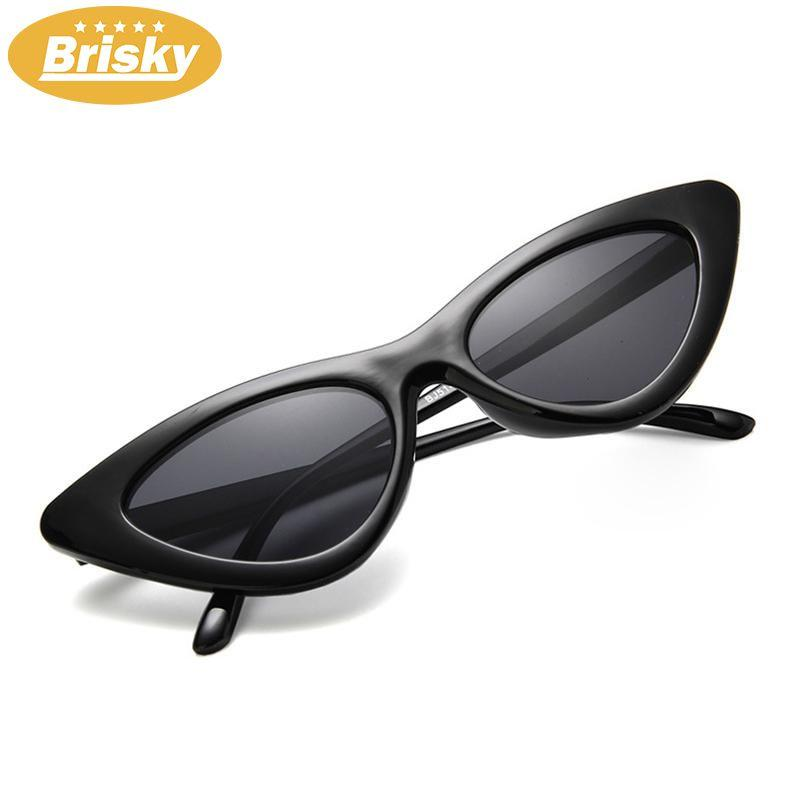 Brisky 1 Pcs Retro Modis Segitiga Kucing Mata Tren Kacamata Kaca Mata untuk Perempuan Gadis-