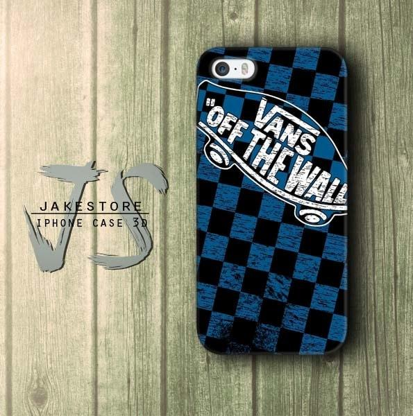 Case Xiaomi Redmi Mi  6  Vans Off The Wall Blue Pattern Hardcase