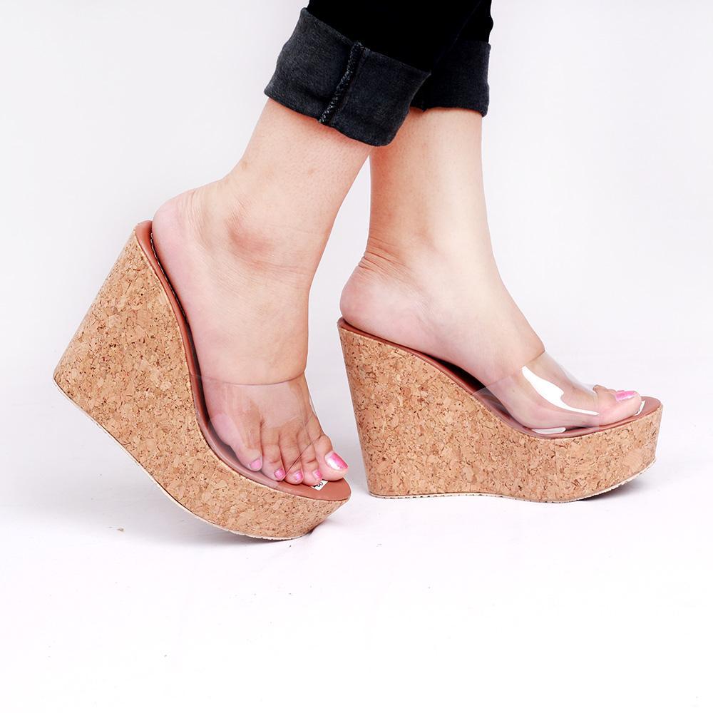 Kelebihan Wedges Mika 971 Tan Model Terbaru Grosir Murah Terkini Sandal Zr01 Gns Store Sepatu Wanita