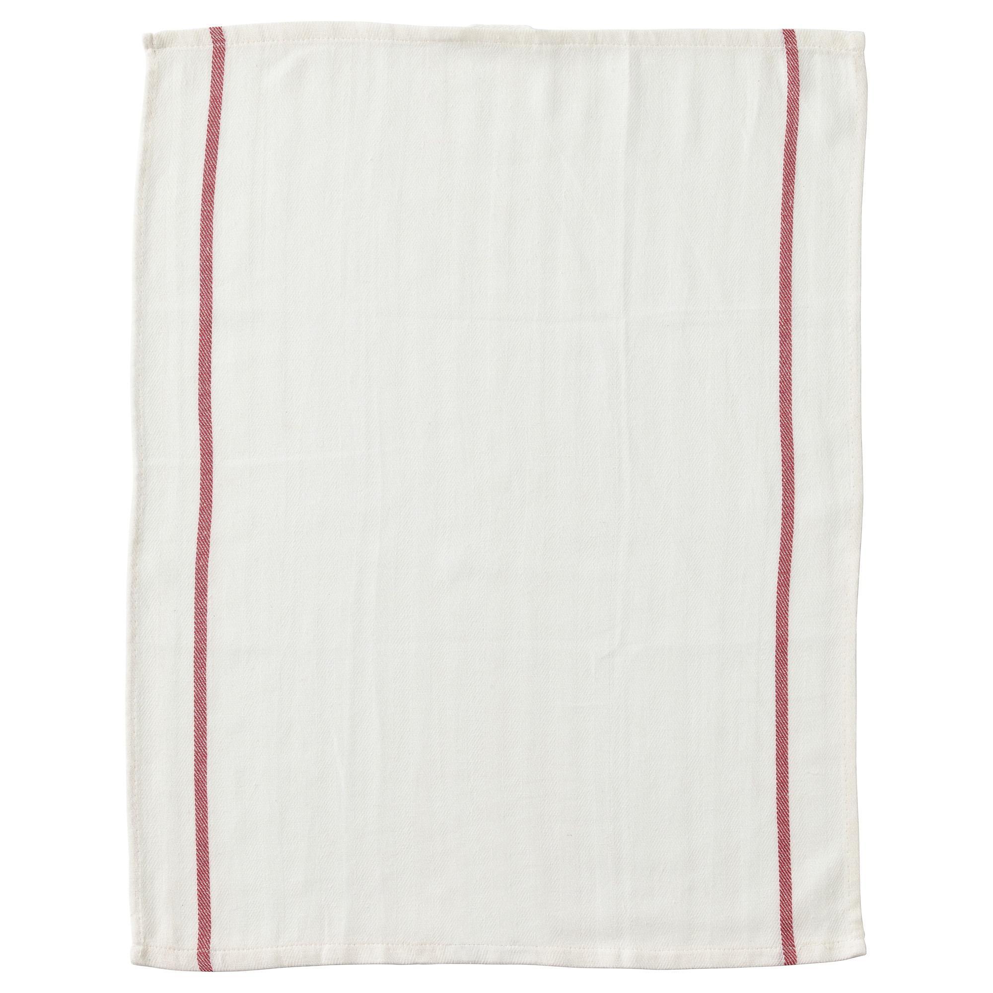 Cek Harga Baru Ikea Tekla Kain Lap Dapur 100 Katun Putih Merah Garis