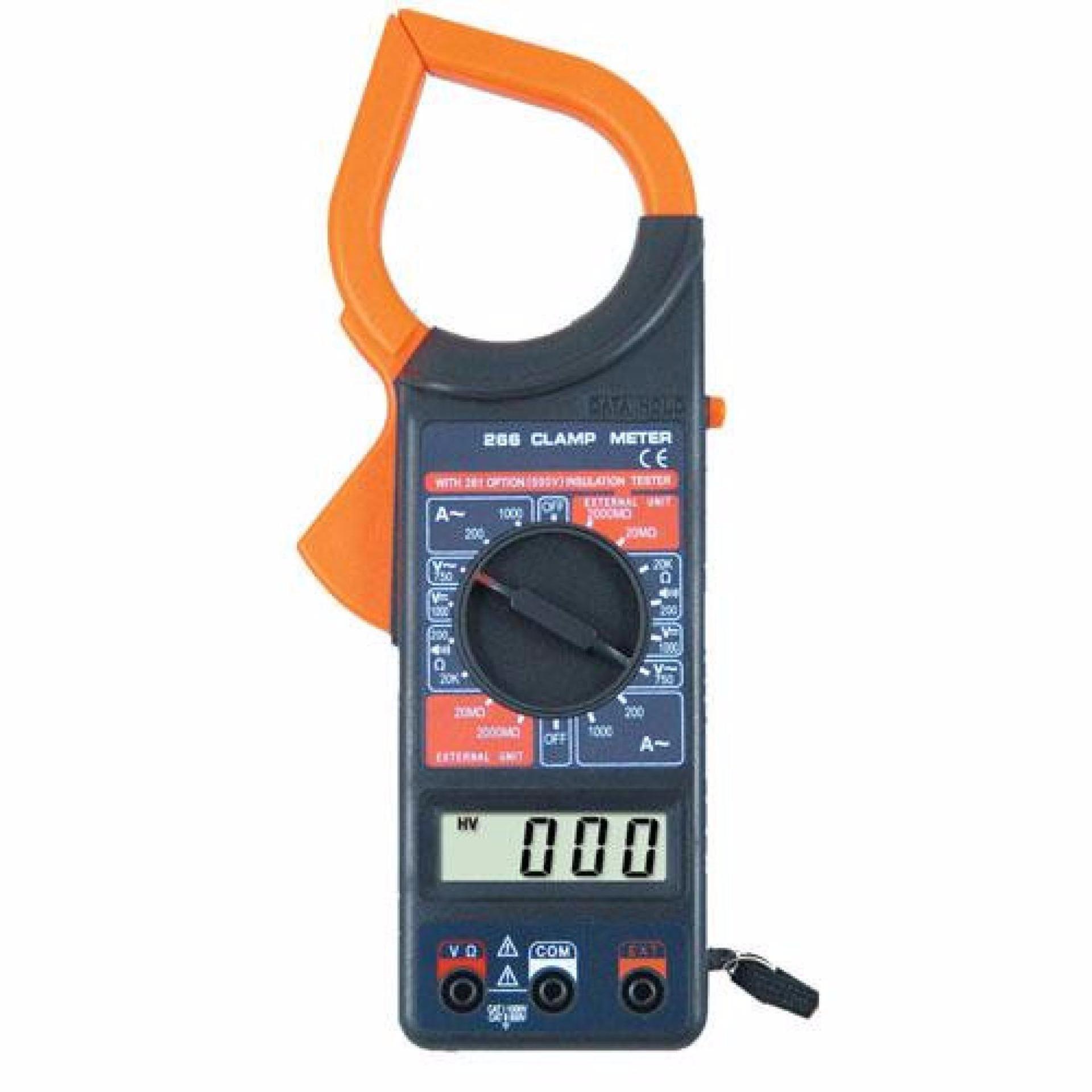 Termurah !! Viper Digital Clamp Multimeter / Tang Ampere - M266 - Black Hitam - Alat Ukur Tegangan Ac Dc Simple Simpel Mudah