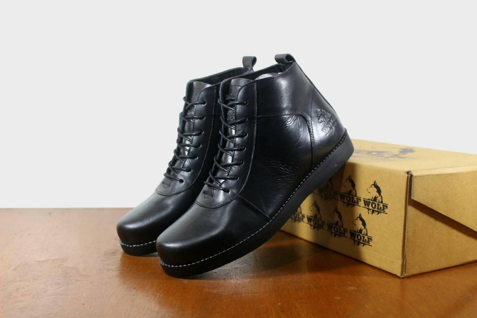 Sepatu Brodo Golden Original WOLF - Sepatu Brodo Boots Pria - Sepatu Boots kulit  Asli 4e9bf00201