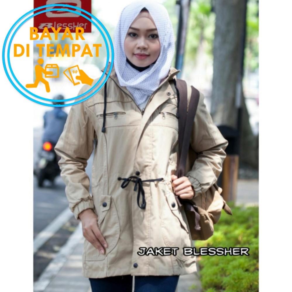Harga Jaket Parka Wanita Premium Blessher Cream Best Seller Yang Murah Dan Bagus