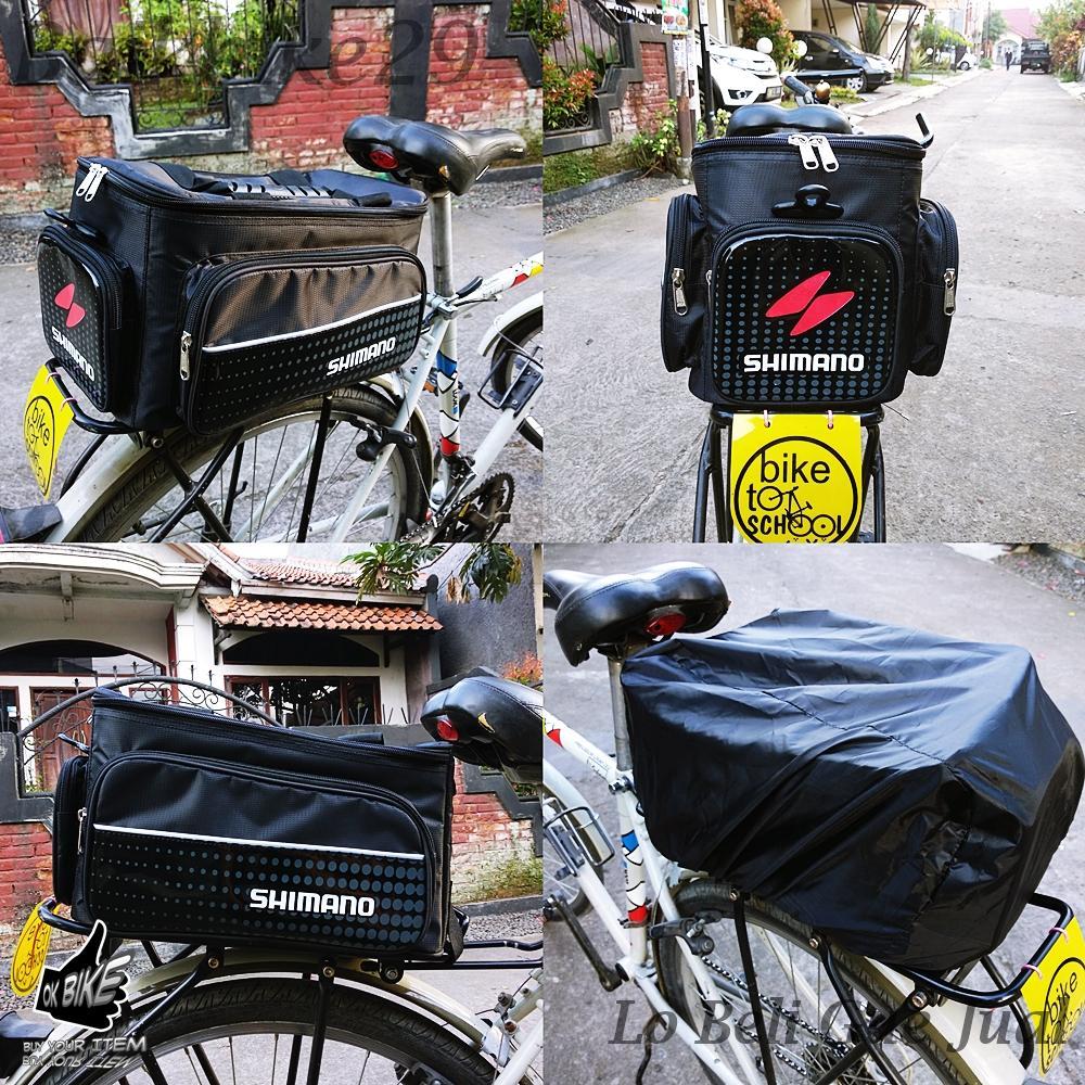 Fitur Roswheel 14892 Tas Pannier 3 Piece Sepeda Touring Dan Harga Bike Waterproof Bag With Smartphone Single Rak Shimano Bagasi