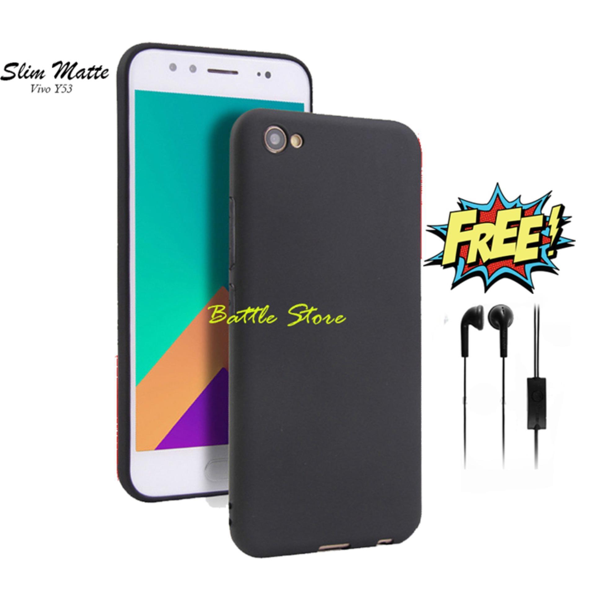 Case Slim Black Matte Vivo Y53 Baby Skin Softcase Ultra Thin Jelly Silikon Babyskin + Free