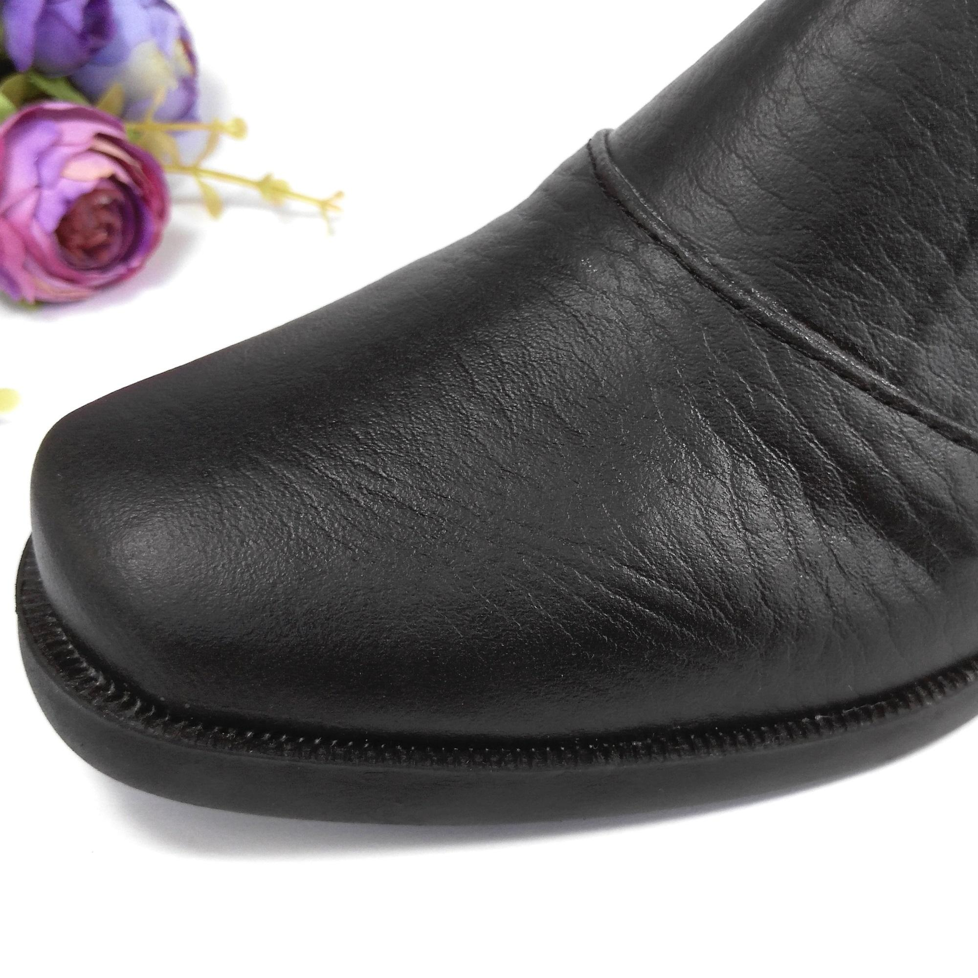 HQo Sepatu Pantofel Wanita Sepatu Boot Wanita Sepatu Pantofel Paskibra Wanita Bertali Sepatu