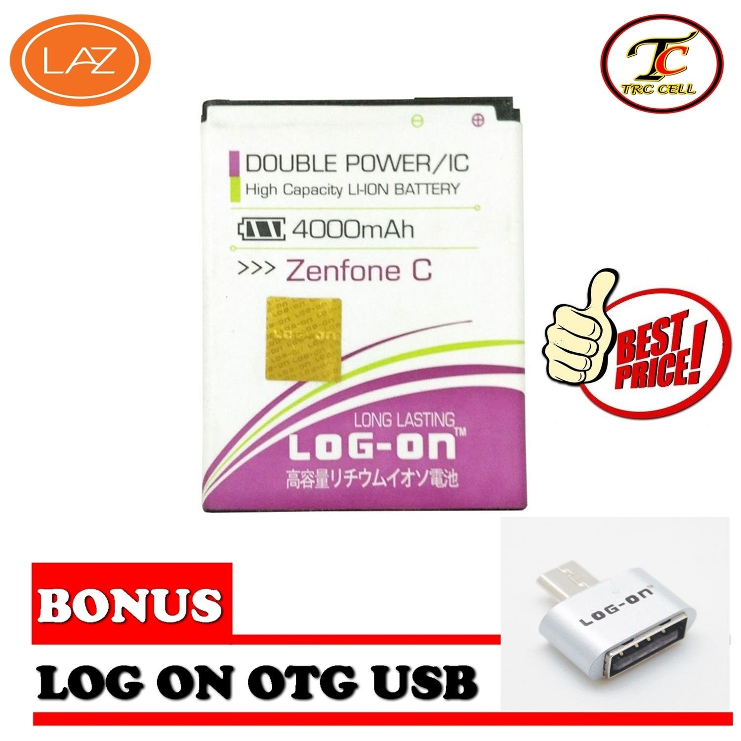 LOG-ON Battery Asus Zenfone C - Double Power & IC + FREE OTG Micro