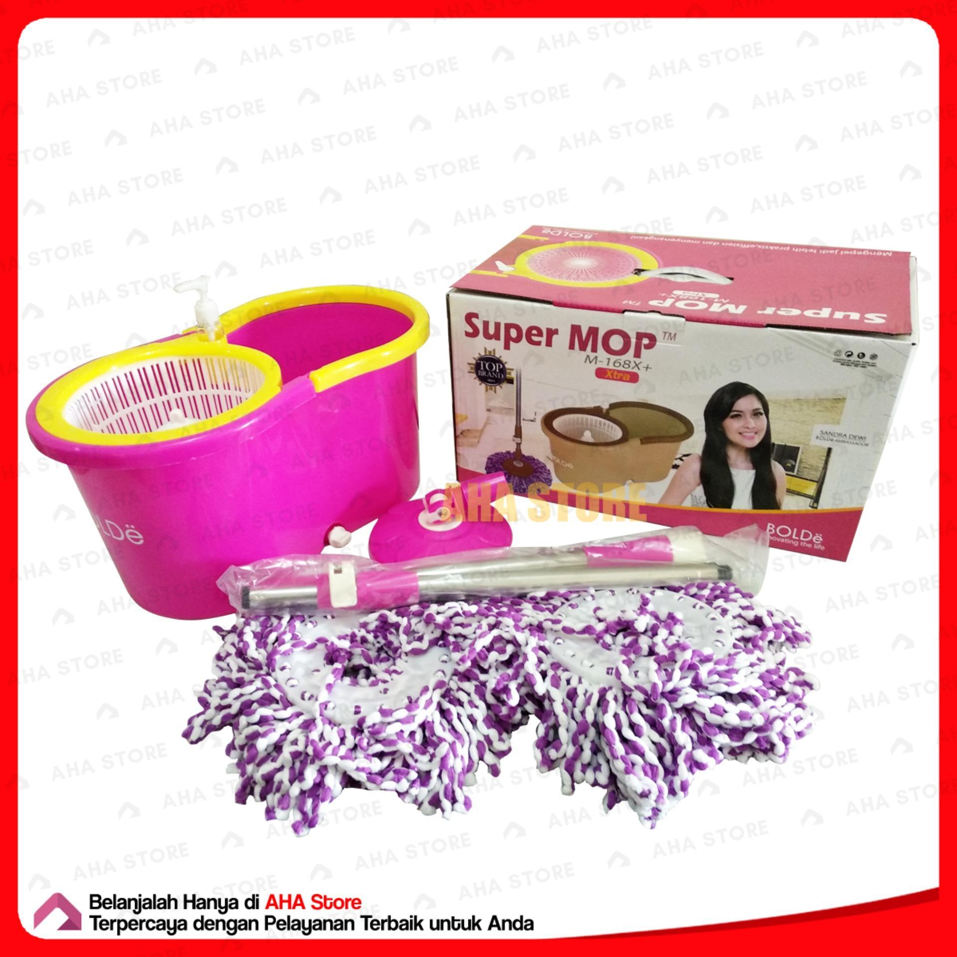 Bolde Super Mop M-168X+ X-Tra Pel Lantai - Merah Muda - 2 ...