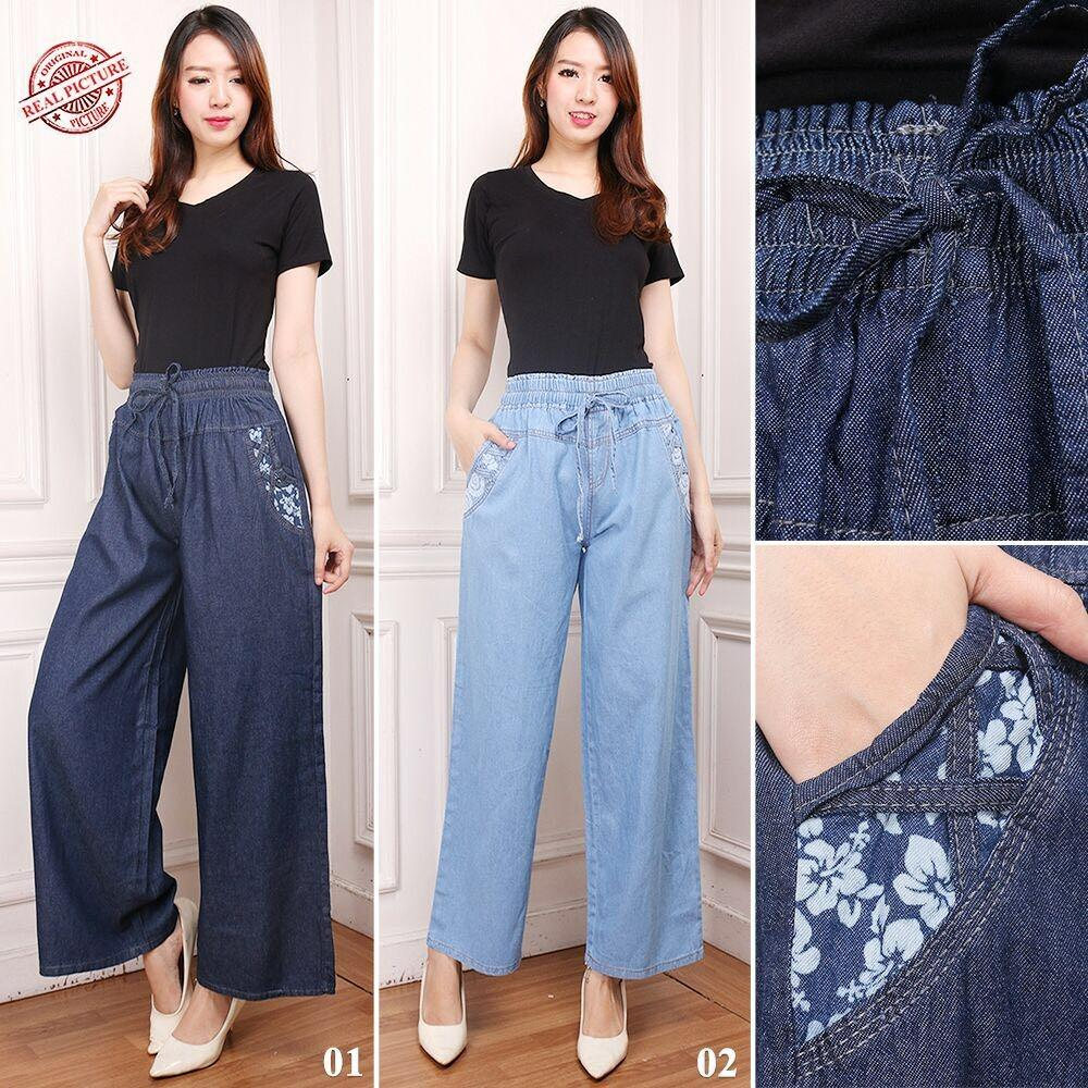 Tips Beli Cj Collection Celana Kulot Jeans Panjang Wanita Jumbo Long Pant Keyna 01