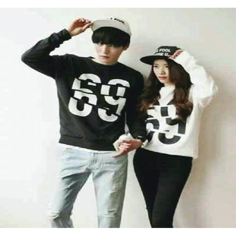 Spesifikasi Legionshop Sweater Pasangan Sweater Couple Baju Pasangan Baju Couple Couple Terbaru Broken 69 Black White Sudah Harga Pasangan Paling Bagus