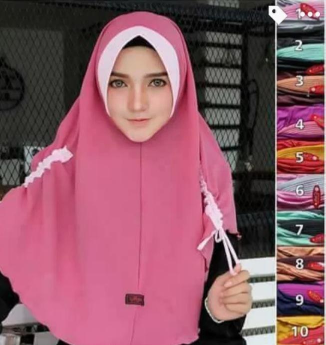 Jilbab serut Kk kombi