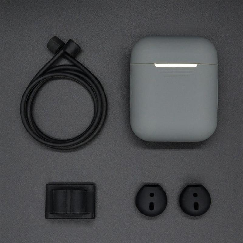 Light 5 In 1 Sarung Penutup Silikon Perlengkapan Pelantang Telinga untuk Airpods Headset Earhook Aksesoris