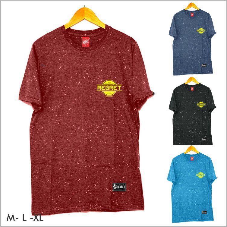 Kaos Distro Original REGRET COTTON COMBAD BAMBOO T-shirt Pria Bintik 06