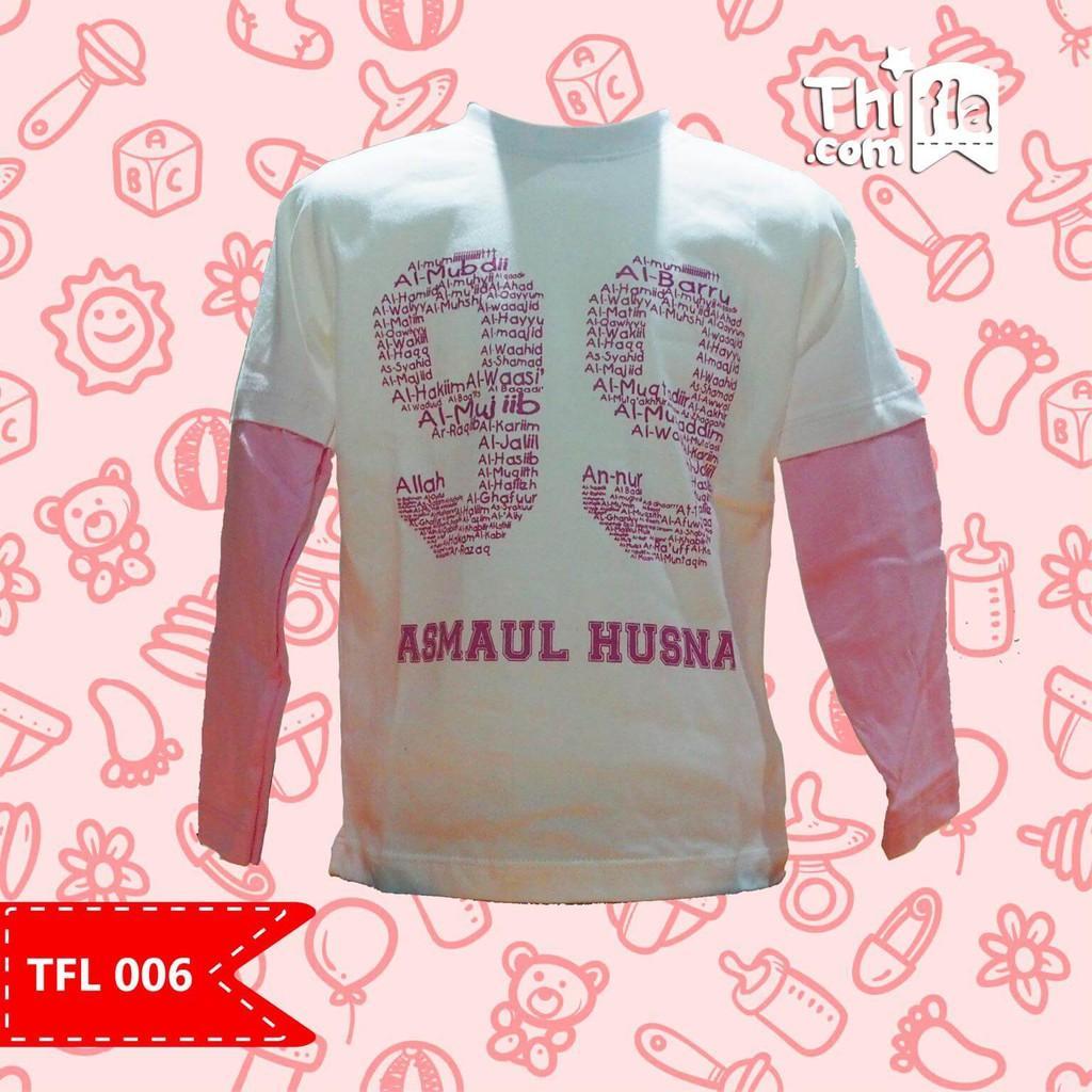 Promo Baju Anak Muslim / Kaos / Tangan Panjang / Asmaul Husna  - TFL 006 Termurah