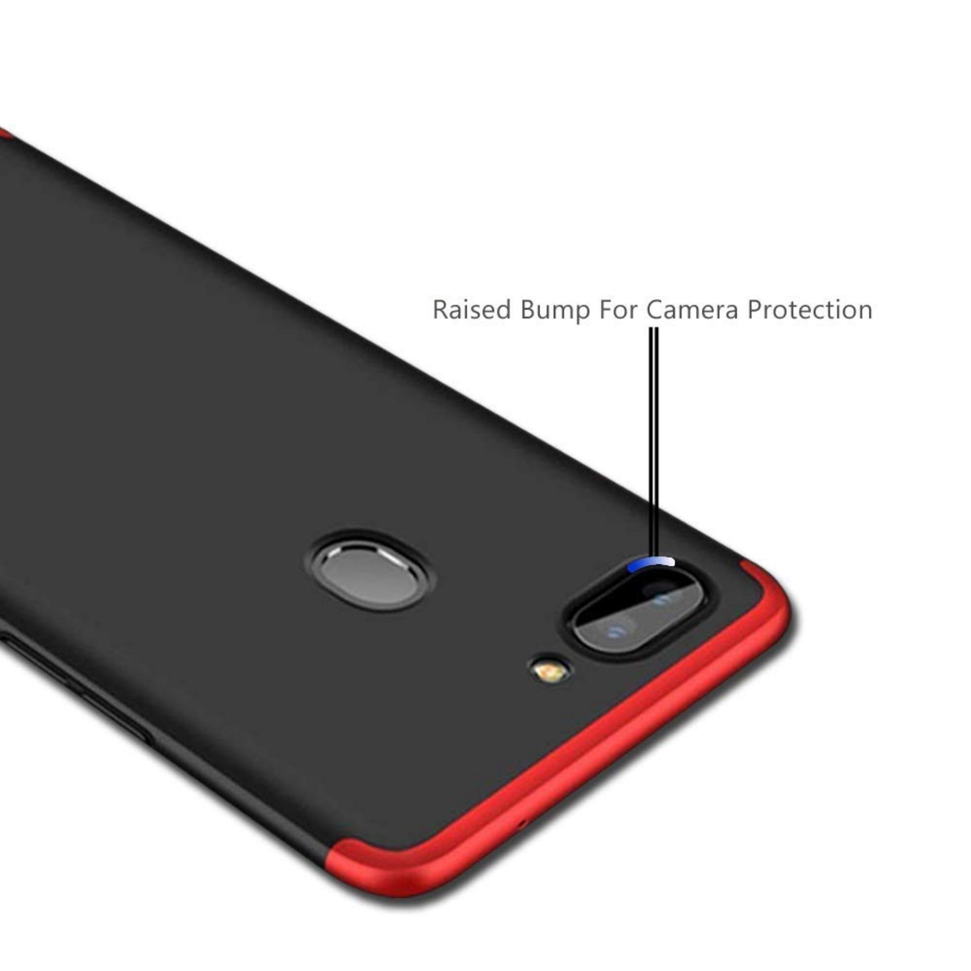 Premium Case 360 Degree Full Protection Super Slim Anti Slip Hard Back Case Cover For Oppo Realme C1 - Random Color + Free Tempered Glass - 4