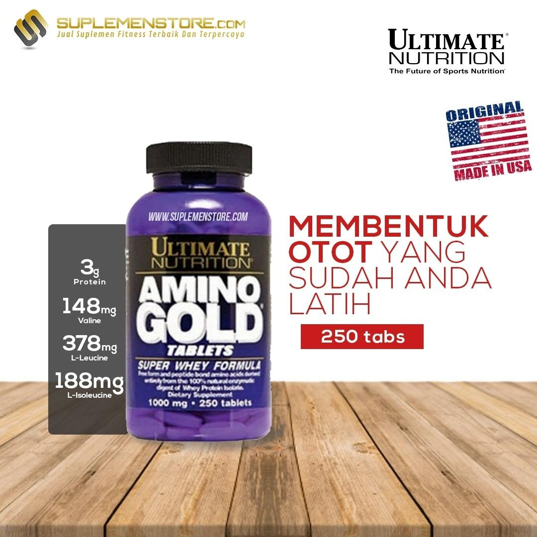 Harga Ultimate Nutrition Amino Gold Isi 250 Tablet Origin