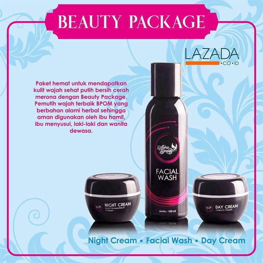 Promo Aura Beauty Paket Cream Beauty Krim Pemutih Dan Pencerah Wajah Berbpom Aman Digunakan Bumil Dan Busui Indonesia