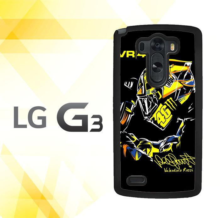 Casing gambar motif HARDCASE untuk hp LG G3 Non Stylus Rossi The Doctor 46 Motogp