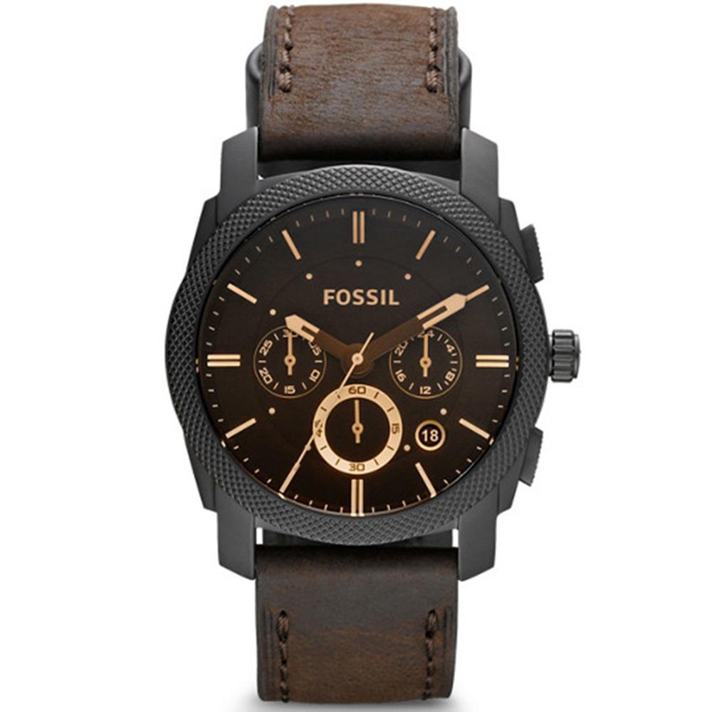 Ulasan Lengkap Tentang Fossil Machine Midsize Chronograph Watch Jam Tangan Pria Coklat Tali Kulit Fs4656
