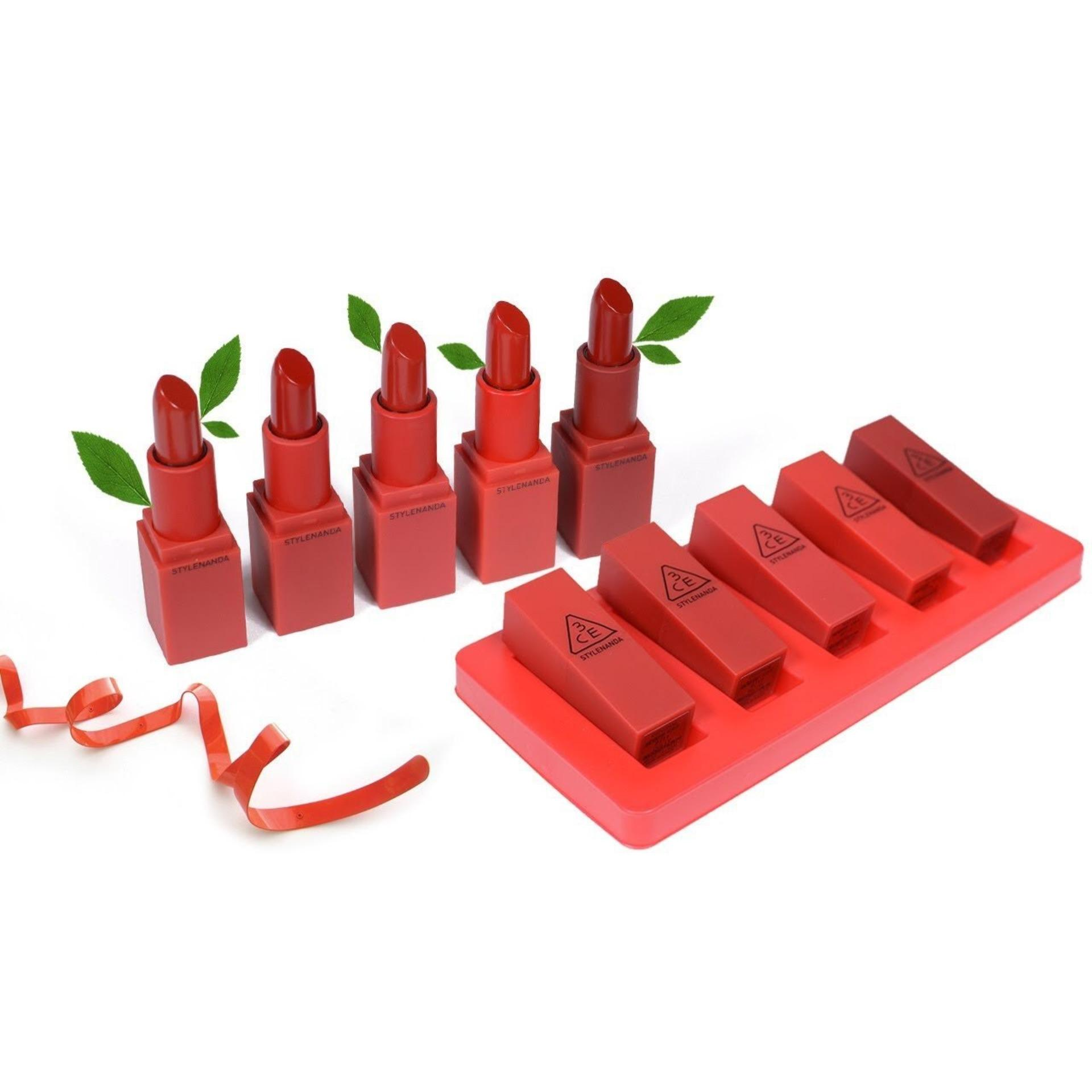 Detail Gambar 3CE Mood Recipe Red Recipe Mini Kit Lipstick 3CE Lipstick Terbaru
