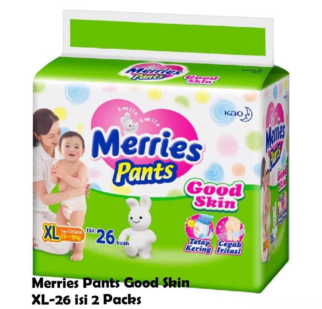 Kelebihan Goon Smile Baby Pants Xl 26 4 Isi 2 Packs Terkini Wonderline Super Jumbo S 40 Karton Merries Good Skin
