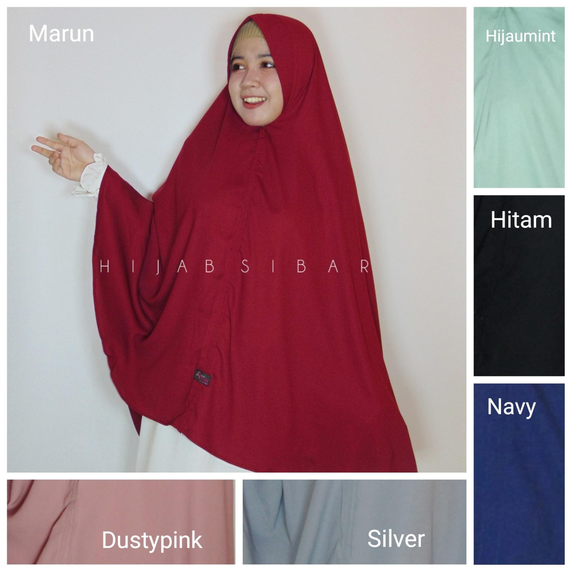Fitur Jilbab Hijab Khimar Syari Farida Hitam Dan Harga Terbaru Dhea Jumbo Wollycrepe Athifa Sibar