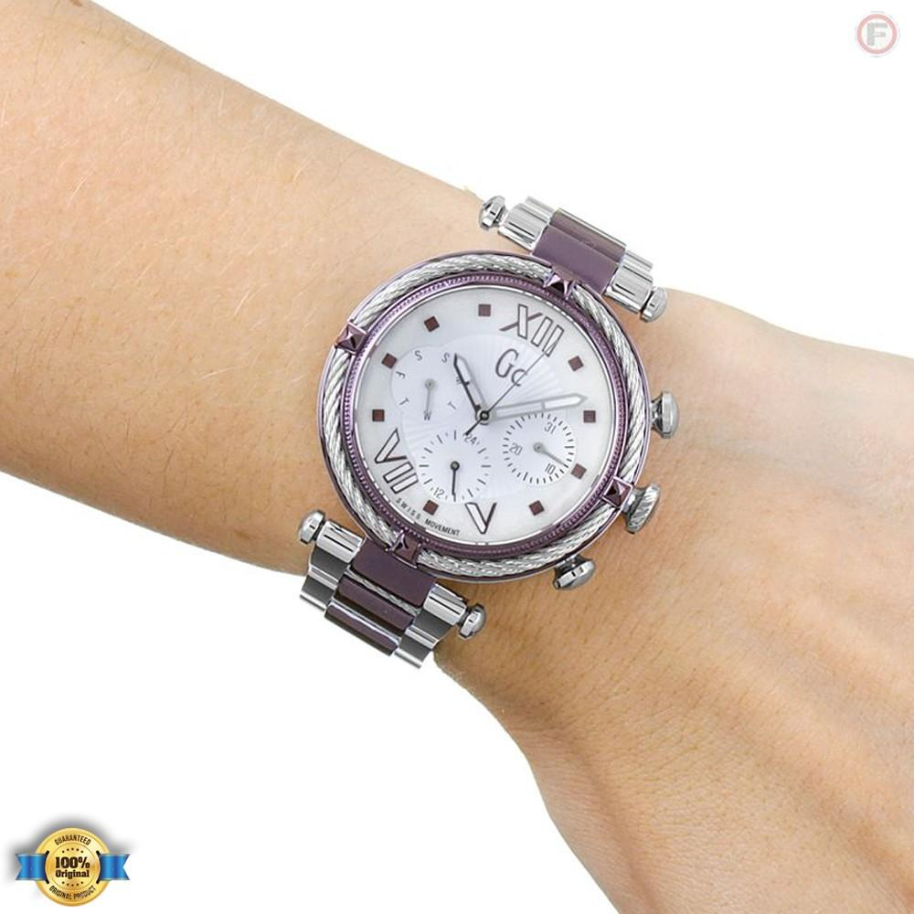 Guess Collection Gc Cablechic Y16003l3 Jam Tangan Wanita Stainless Rosegold Steel Y05009m7 Original Ladychic