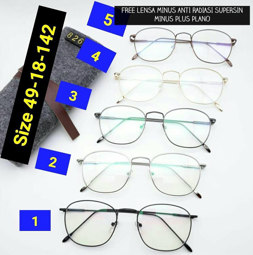 Frame Kacamata Ursula Kotak Kacamata baca kacamata bulat kacamata minus    plus  cylinder kacamata anti ea68ee37ad